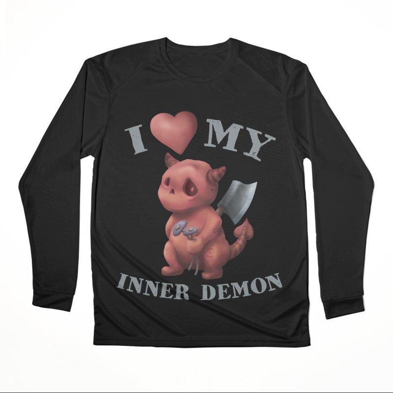 I Love My Inner Demon Men's Performance Longsleeve T-Shirt by Lynell Ingram's Shop