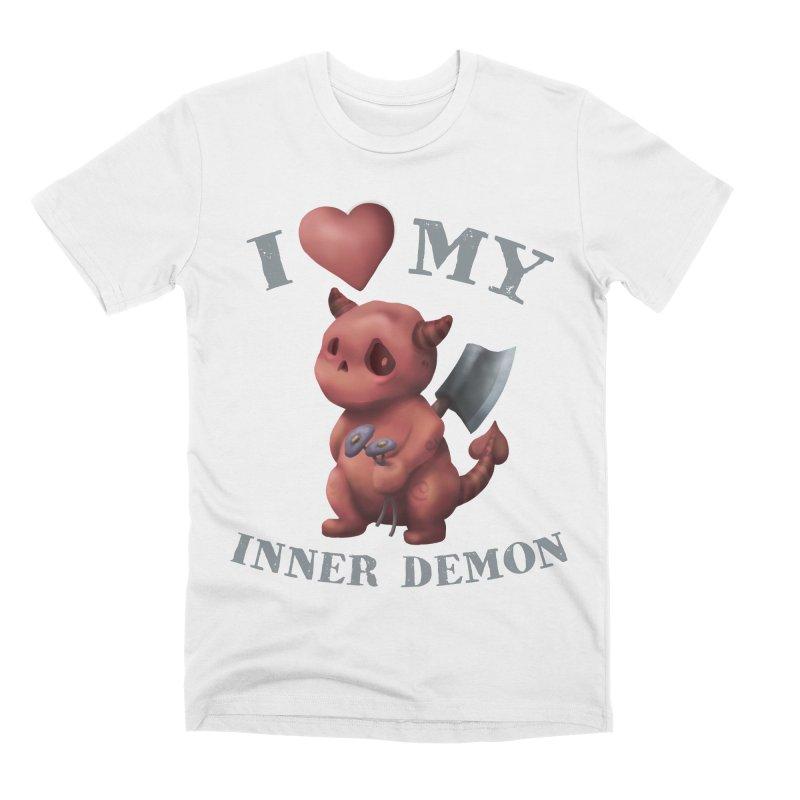 I Love My Inner Demon Men's Premium T-Shirt by Lynell Ingram's Shop