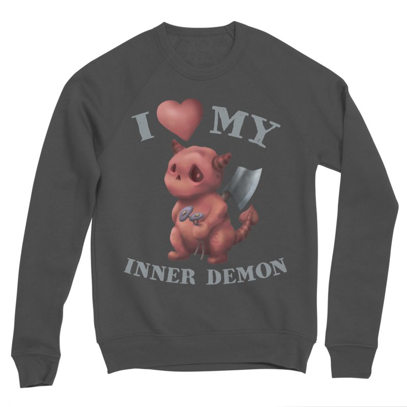 I Love My Inner Demon Men's Sponge Fleece Sweatshirt by Lynell Ingram's Shop