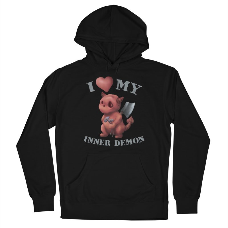 I Love My Inner Demon Men's French Terry Pullover Hoody by Lynell Ingram's Shop