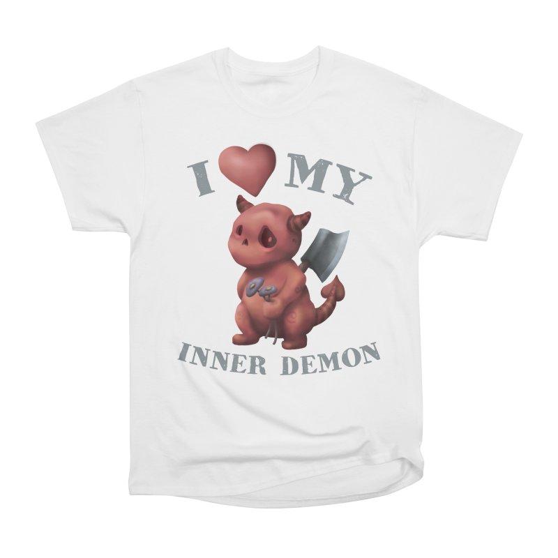 I Love My Inner Demon Women's Heavyweight Unisex T-Shirt by Lynell Ingram's Shop
