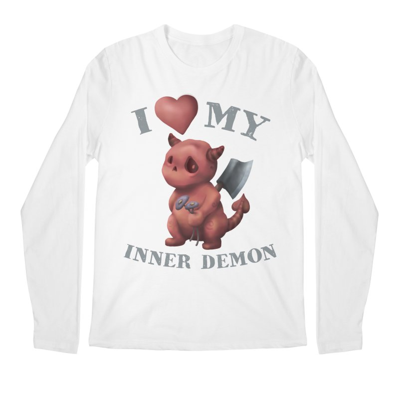 I Love My Inner Demon Men's Regular Longsleeve T-Shirt by Lynell Ingram's Shop
