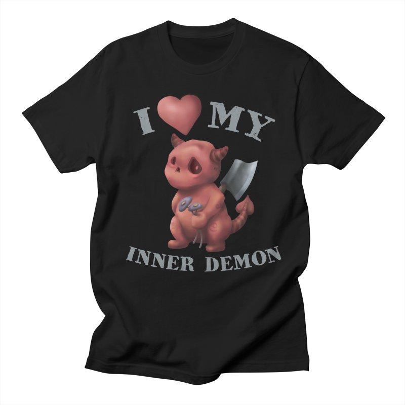 I Love My Inner Demon Women's Regular Unisex T-Shirt by Lynell Ingram's Shop