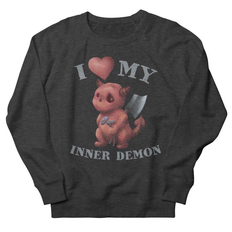 I Love My Inner Demon Men's French Terry Sweatshirt by Lynell Ingram's Shop
