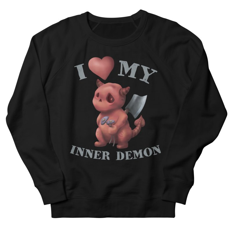 I Love My Inner Demon Men's French Terry Sweatshirt by Lynell Ingram's Shop