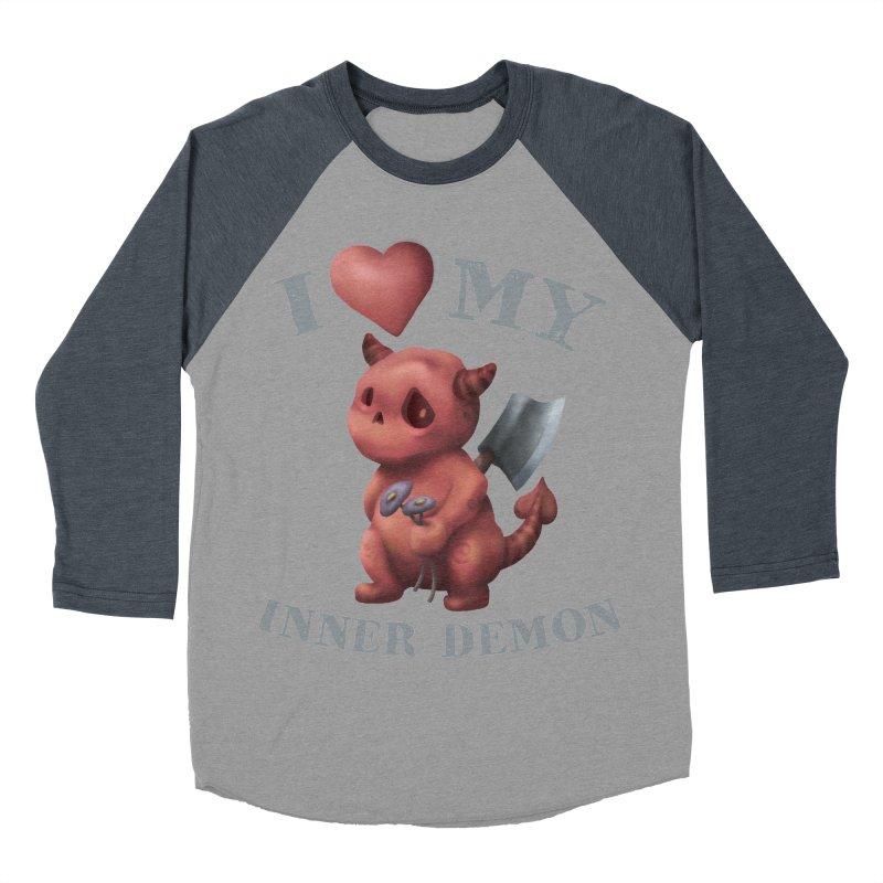 I Love My Inner Demon Women's Baseball Triblend Longsleeve T-Shirt by Lynell Ingram's Shop