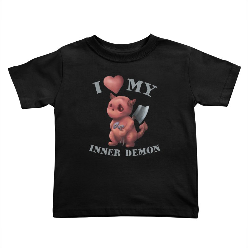 I Love My Inner Demon Kids Toddler T-Shirt by Lynell Ingram's Shop