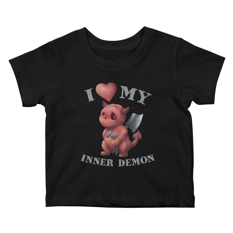 I Love My Inner Demon Kids Baby T-Shirt by Lynell Ingram's Shop