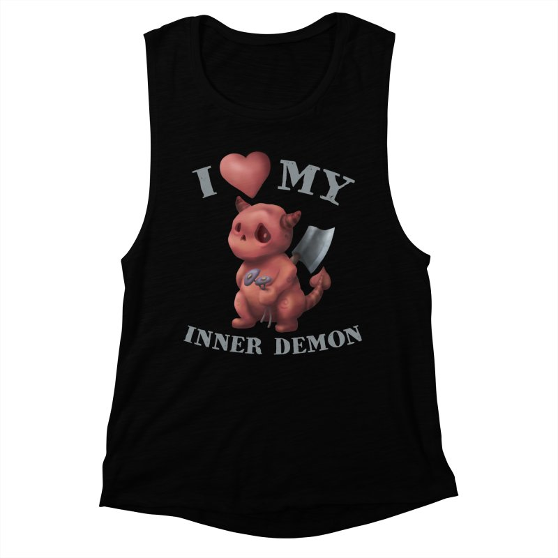 I Love My Inner Demon Women's Muscle Tank by Lynell Ingram's Shop