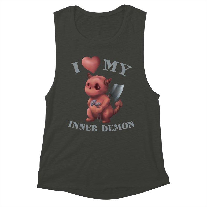 I Love My Inner Demon Women's Muscle Tank by Lynell Ingram's Shop