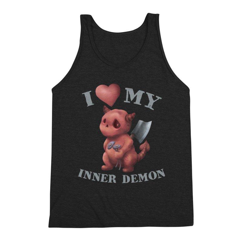 I Love My Inner Demon Men's Triblend Tank by Lynell Ingram's Shop