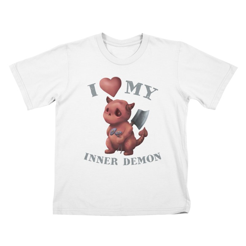 I Love My Inner Demon Kids T-Shirt by Lynell Ingram's Shop