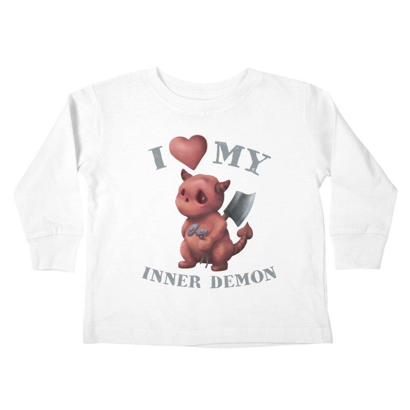 I Love My Inner Demon Kids Toddler Longsleeve T-Shirt by Lynell Ingram's Shop