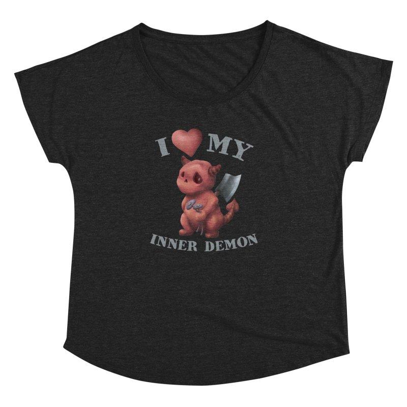 I Love My Inner Demon Women's Dolman Scoop Neck by Lynell Ingram's Shop