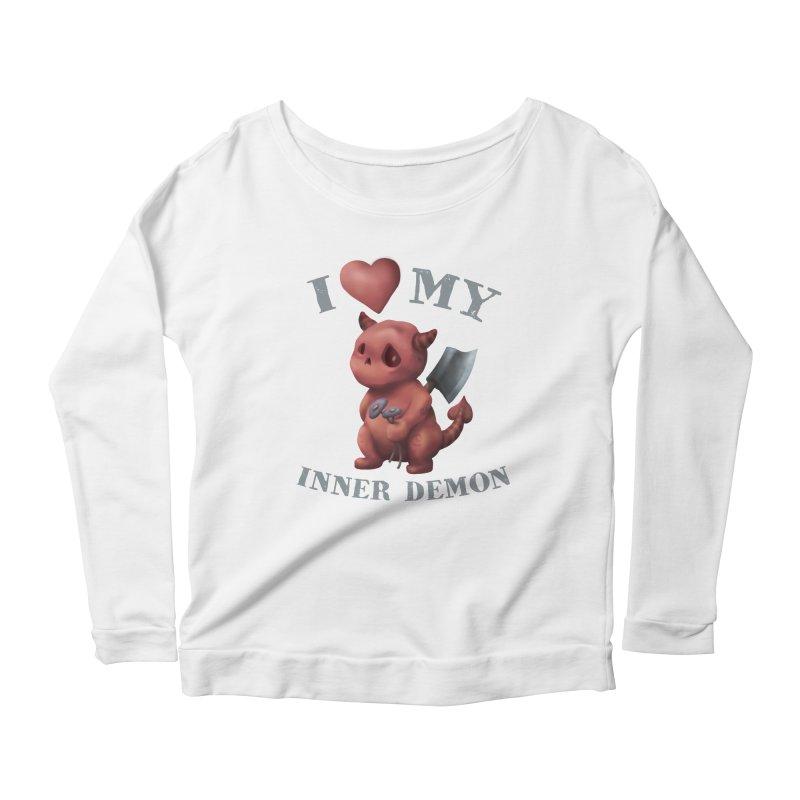 I Love My Inner Demon Women's Scoop Neck Longsleeve T-Shirt by Lynell Ingram's Shop