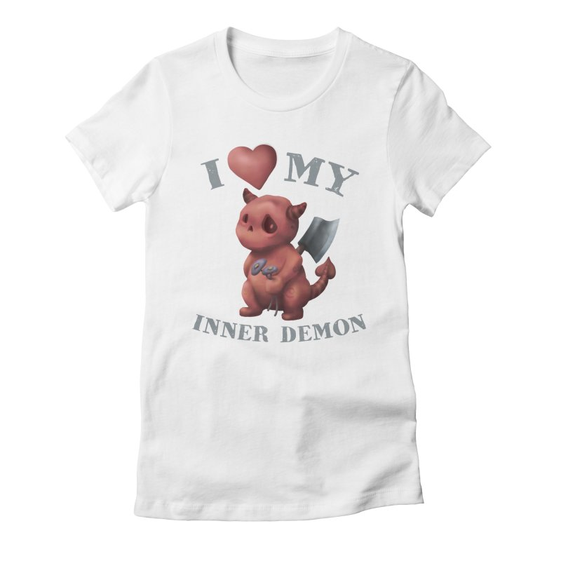 I Love My Inner Demon Women's Fitted T-Shirt by Lynell Ingram's Shop