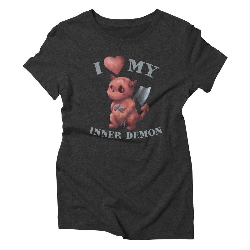 I Love My Inner Demon Women's Triblend T-Shirt by Lynell Ingram's Shop