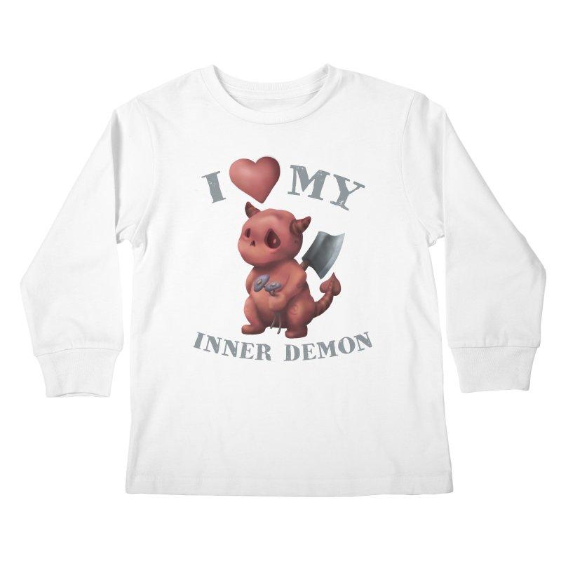 I Love My Inner Demon Kids Longsleeve T-Shirt by Lynell Ingram's Shop