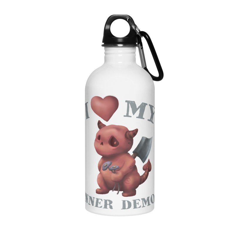 I Love My Inner Demon Accessories Water Bottle by Lynell Ingram's Shop