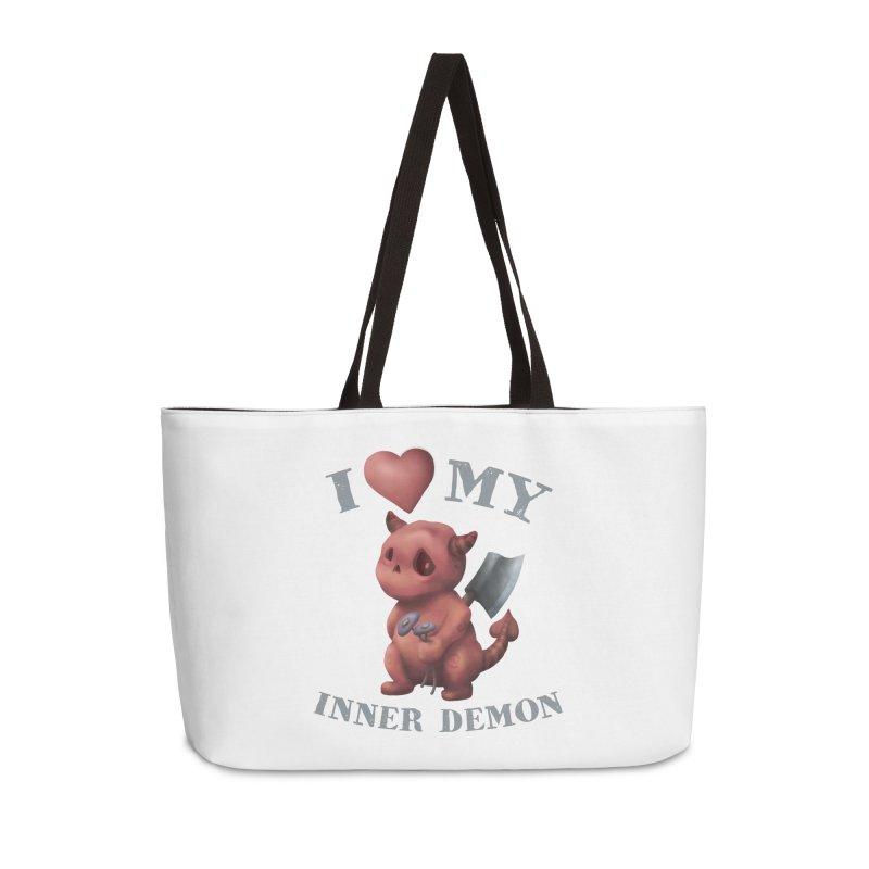 I Love My Inner Demon Accessories Weekender Bag Bag by Lynell Ingram's Shop