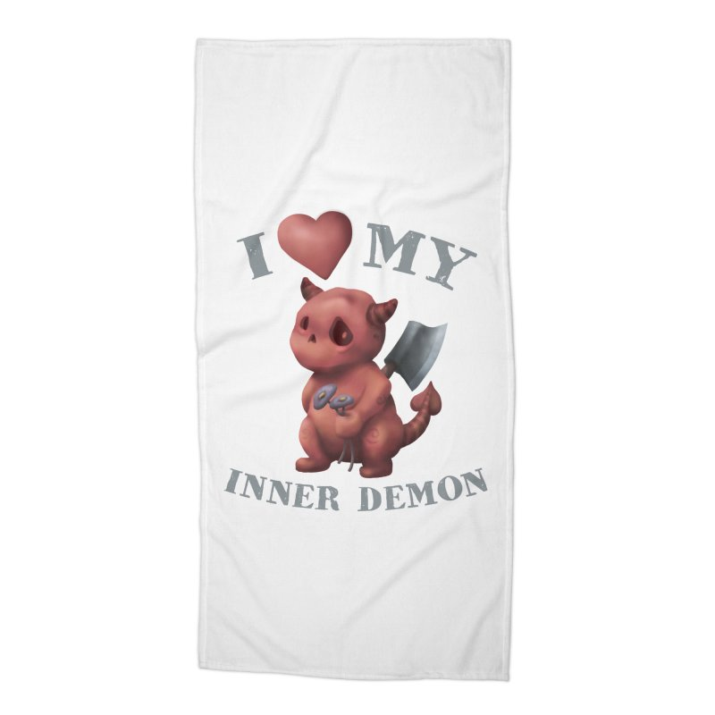 I Love My Inner Demon Accessories Beach Towel by Lynell Ingram's Shop