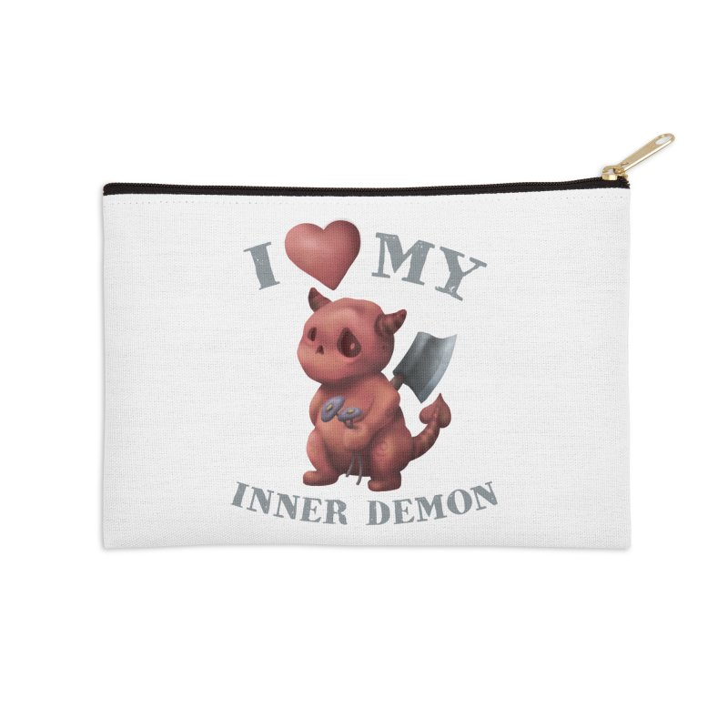 I Love My Inner Demon Accessories Zip Pouch by Lynell Ingram's Shop