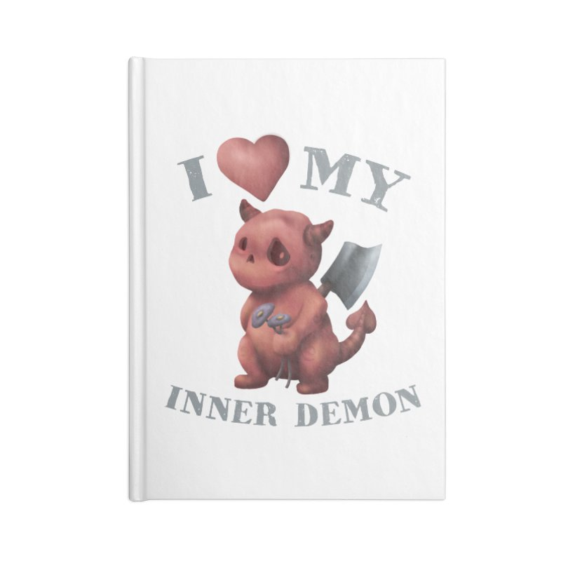 I Love My Inner Demon Accessories Lined Journal Notebook by Lynell Ingram's Shop