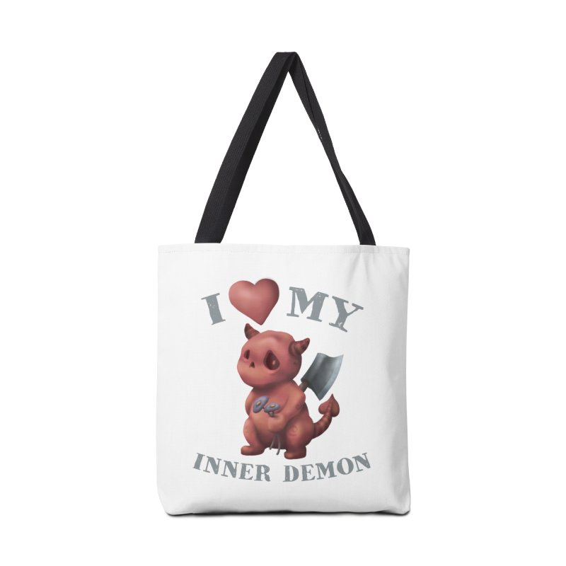 I Love My Inner Demon Accessories Tote Bag Bag by Lynell Ingram's Shop