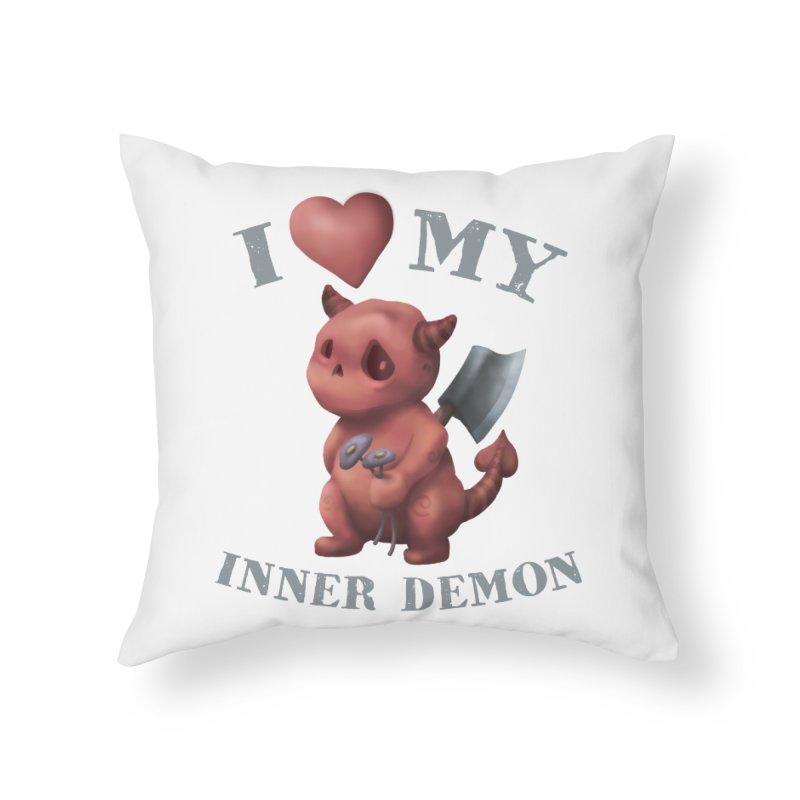 I Love My Inner Demon Home Throw Pillow by Lynell Ingram's Shop