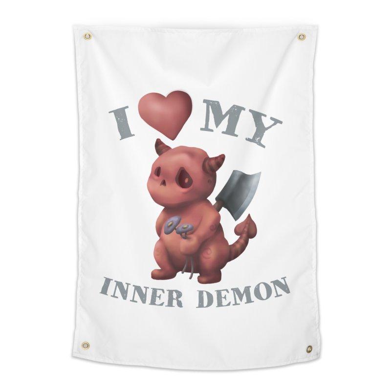 I Love My Inner Demon Home Tapestry by Lynell Ingram's Shop