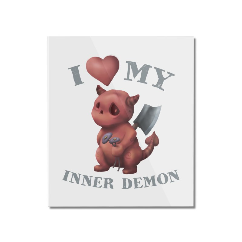 I Love My Inner Demon Home Mounted Acrylic Print by Lynell Ingram's Shop