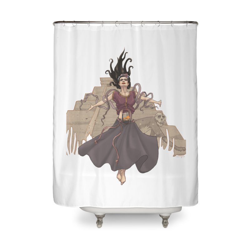 Frida's Glory Home Shower Curtain by Lynell Ingram's Shop