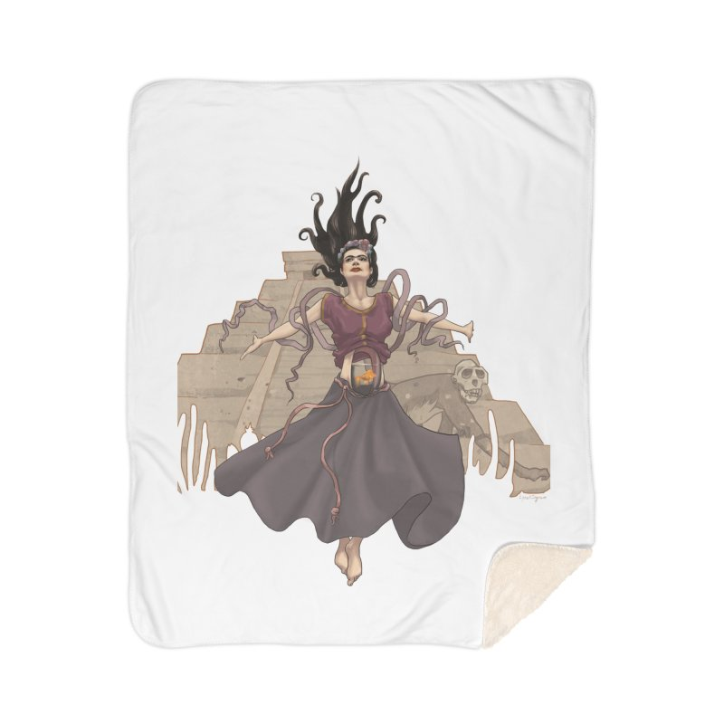 Frida's Glory Home Sherpa Blanket Blanket by Lynell Ingram's Shop