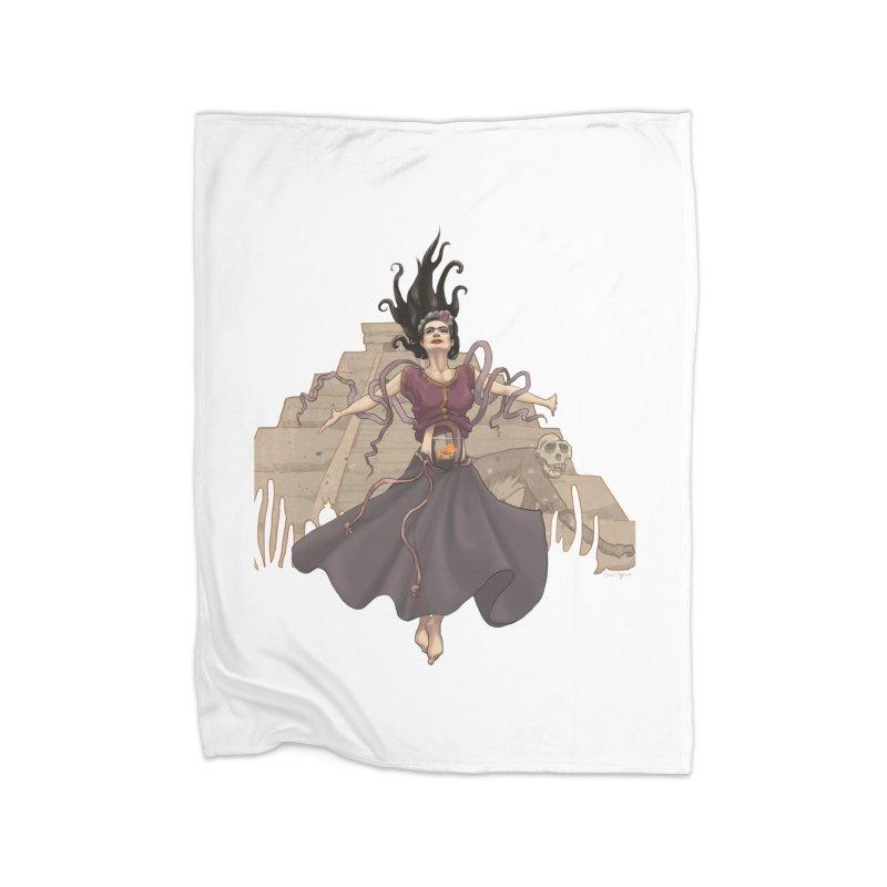 Frida's Glory Home Fleece Blanket Blanket by Lynell Ingram's Shop