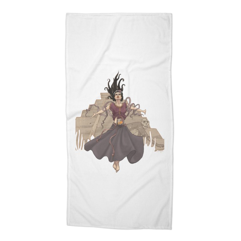 Frida's Glory Accessories Beach Towel by Lynell Ingram's Shop