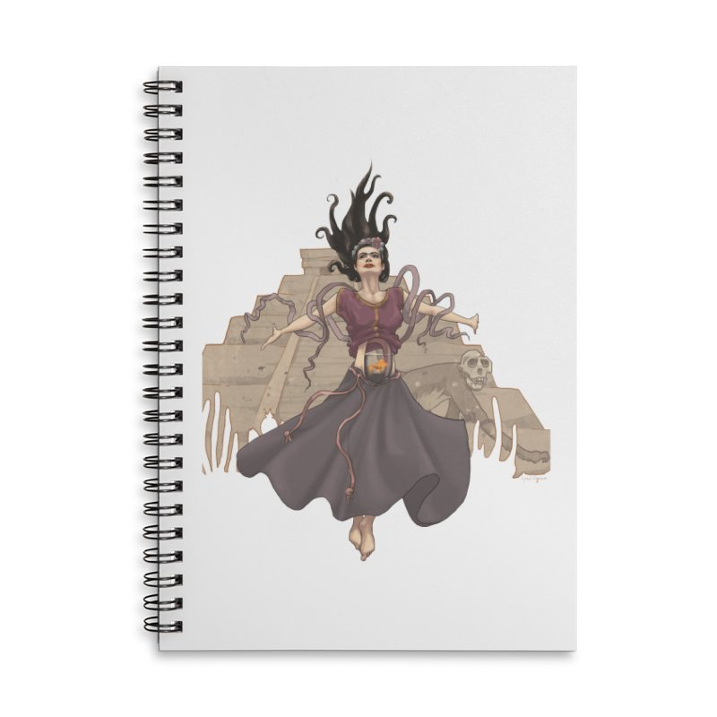 Frida's Glory Accessories Lined Spiral Notebook by Lynell Ingram's Shop