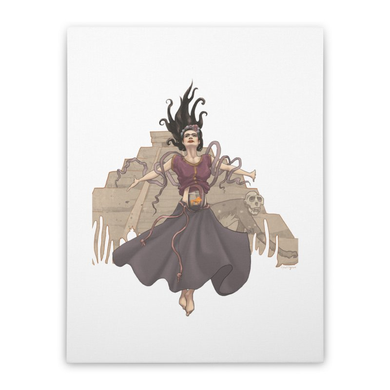 Frida's Glory Home Stretched Canvas by Lynell Ingram's Shop