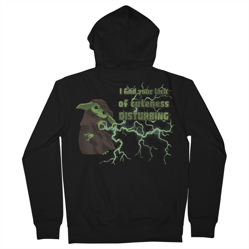 I Find Your Lack of Cuteness Disturbing Men's French Terry Zip-Up Hoody by Lynell Ingram's Shop