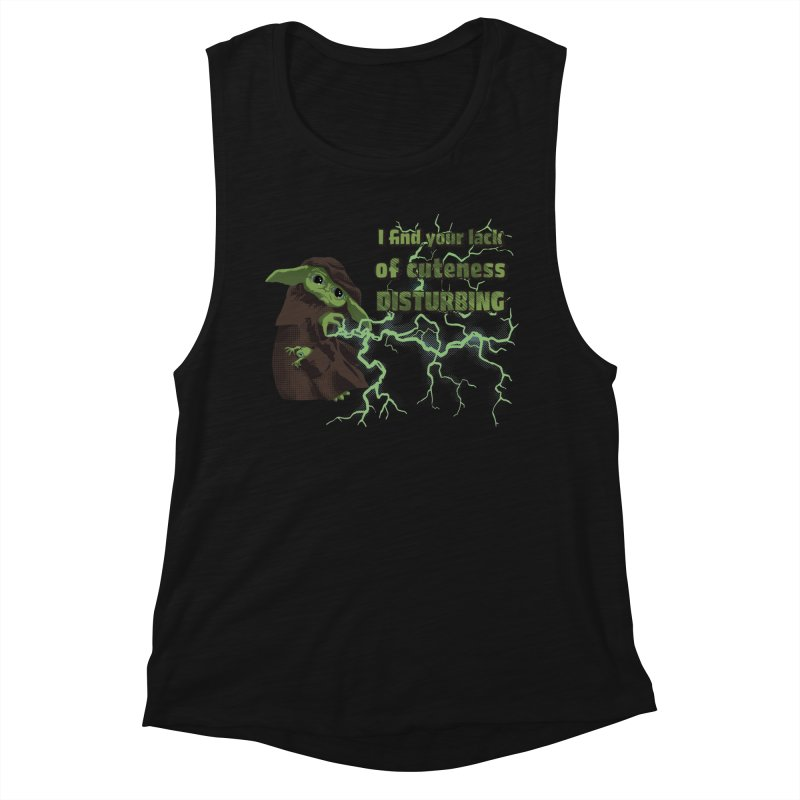 I Find Your Lack of Cuteness Disturbing Women's Muscle Tank by Lynell Ingram's Shop