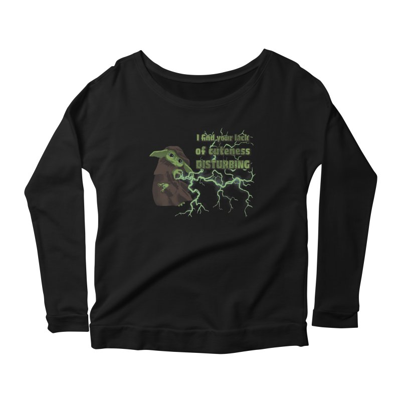 I Find Your Lack of Cuteness Disturbing Women's Scoop Neck Longsleeve T-Shirt by Lynell Ingram's Shop