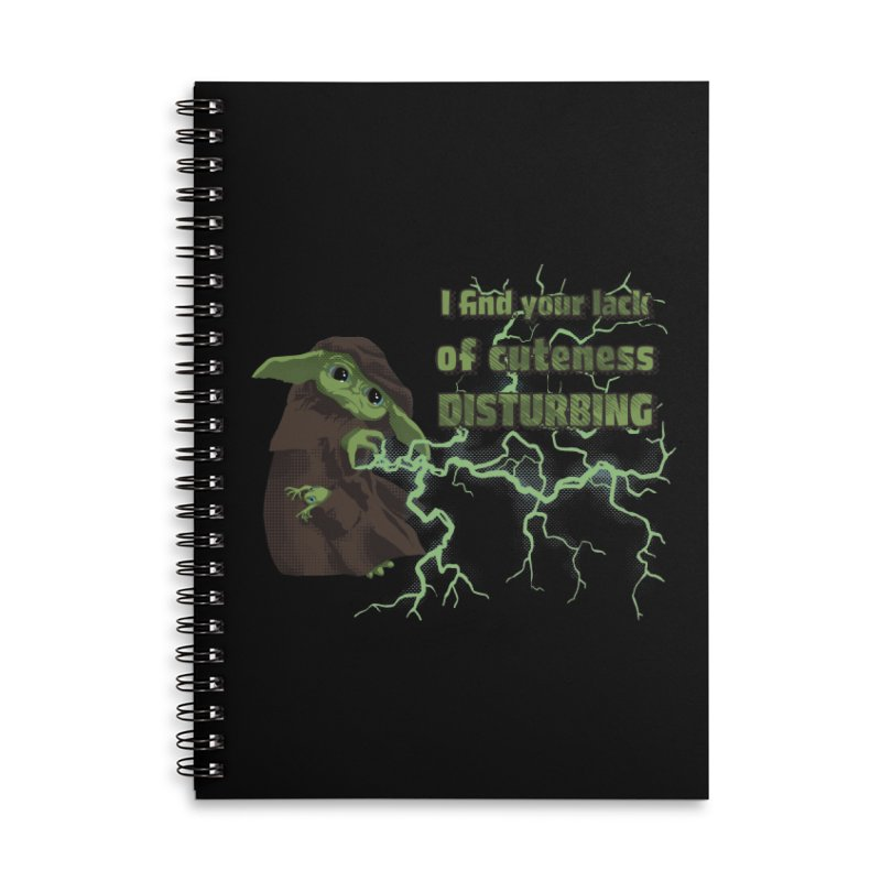 I Find Your Lack of Cuteness Disturbing Accessories Lined Spiral Notebook by Lynell Ingram's Shop