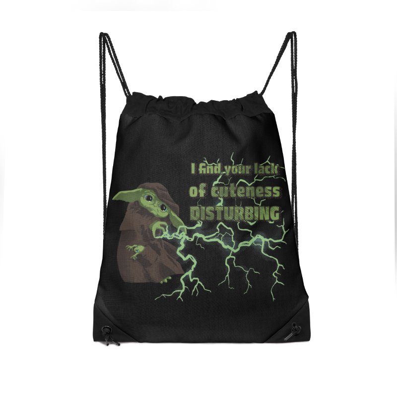 I Find Your Lack of Cuteness Disturbing Accessories Drawstring Bag Bag by Lynell Ingram's Shop