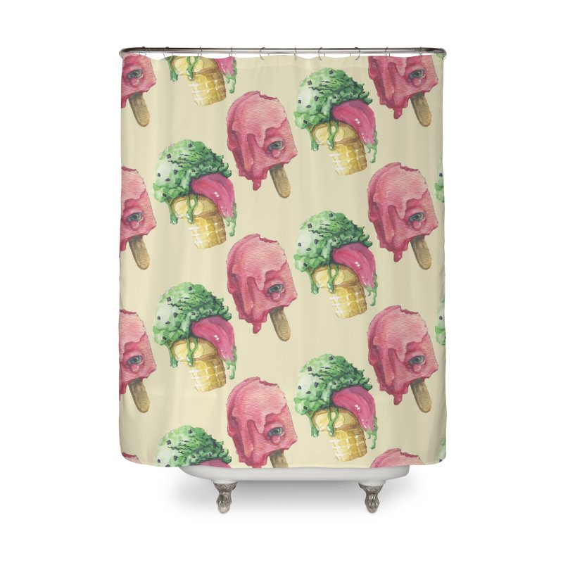 Ice Cream, Who Screams? Home Shower Curtain by Lynell Ingram's Shop