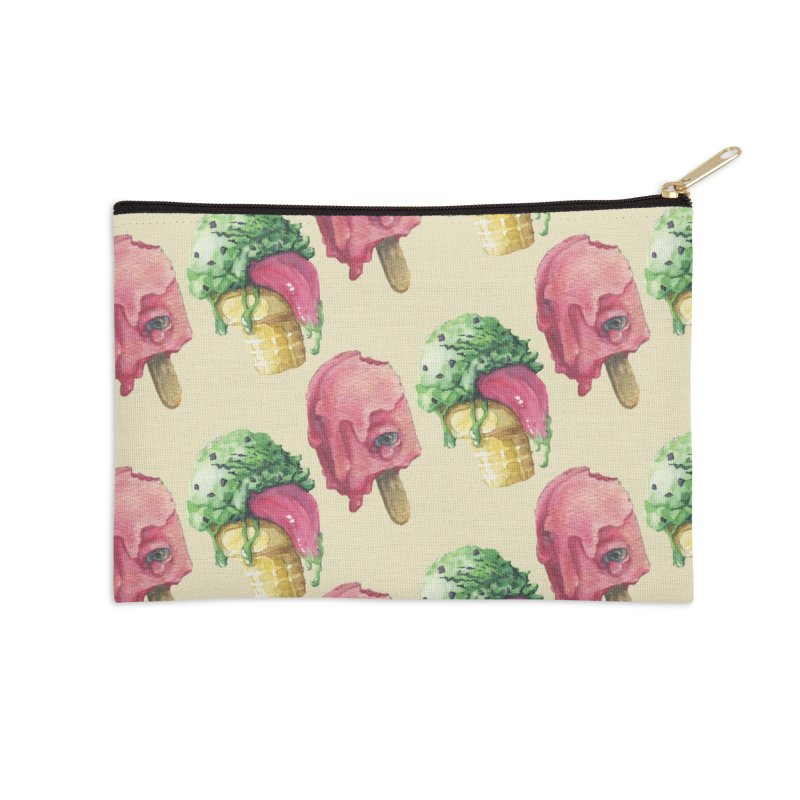 Ice Cream, Who Screams? Accessories Zip Pouch by Lynell Ingram's Shop