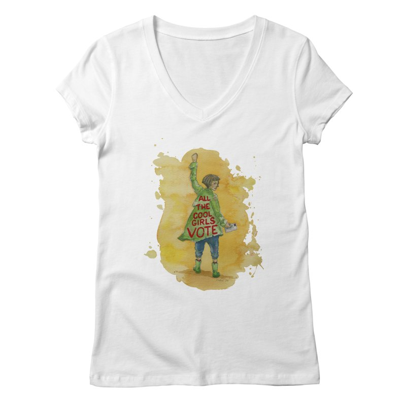 All the Cool Girls Vote Women's V-Neck by Lynell Ingram's Shop