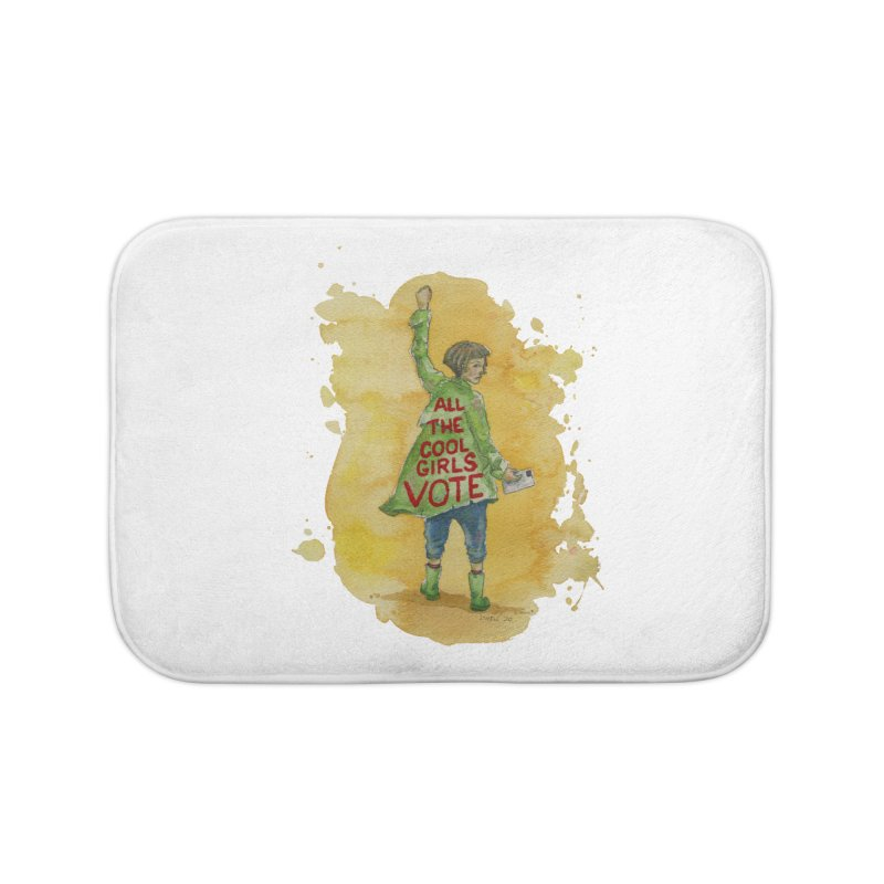 All the Cool Girls Vote Home Bath Mat by Lynell Ingram's Shop