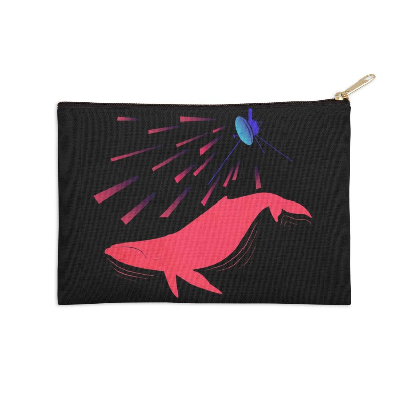 Great Whale of the Cosmos Accessories Zip Pouch by lysandraws presents: crass commercialism!