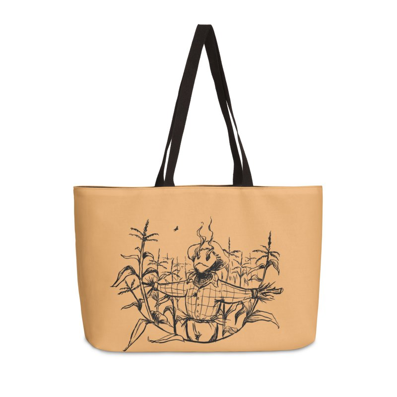 Smoke in the Fields Accessories Weekender Bag Bag by lysandraws presents: crass commercialism!