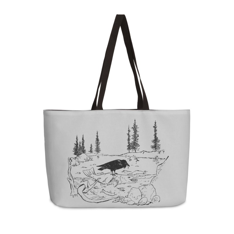 The Feast of the Spawning Accessories Weekender Bag Bag by lysandraws presents: crass commercialism!