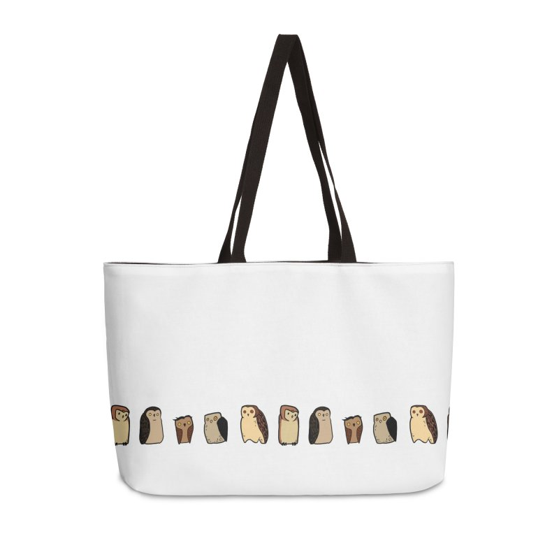 Owl Gang Accessories Weekender Bag Bag by lysandraws presents: crass commercialism!